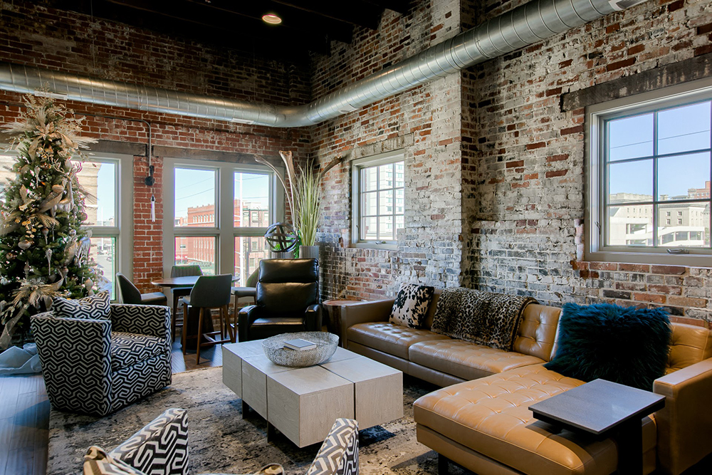 Downtown Condo Living Space